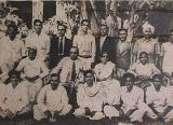 Dr. Ambedkar and Mrs. Savita Ambedkar with the Tamil delegates and peoples of Sri Lanka in 1950. Behind them (third from right are M/s. Kashiram Savadkar, B.S. Gaikwad and Balu Kabir (Brother of Mrs. Savita Ambedkar)