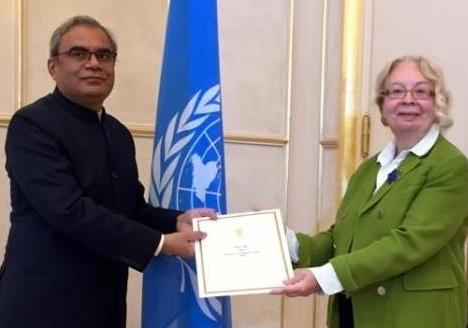 Ambassador Indramani Pandey takes over as the 25th Permanent Representative of India to the United Nations Office and Other International Organizations in Geneva