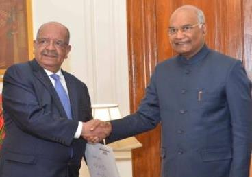 Foreign Minister of Algeria, H.E. Mr Abdlekader Messahel called on Honourable Rashtraptiji during his Bilateral Visit to India (30 January - 1 February 2019)