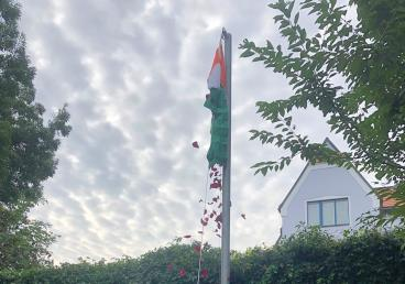 Celebration of 74th Independence Day of India in Embassy of India, Prague on August 15, 2020