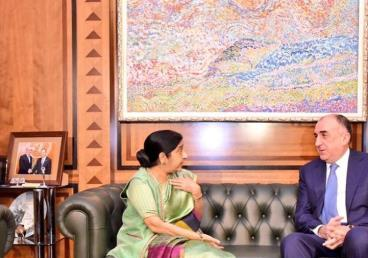 EAM's meeting with Azerbaijani FM