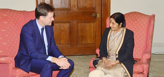 External ​A​ffairs ​M​inister meets D​eputy​ Prime Minister Nick Clegg of the United Kingdom​ in London​