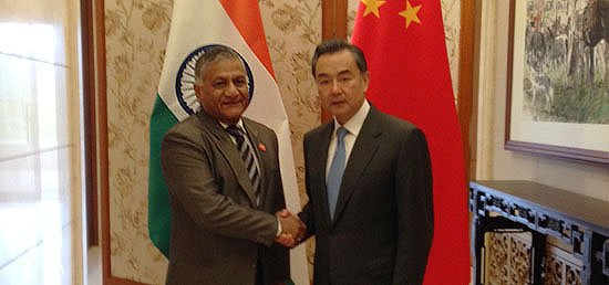 Minister of State for External Affairs meeting with Wang Yi, Minister of Foreign Affairs of the People's Republic of China in Beijing