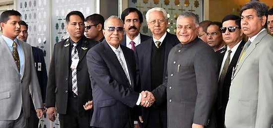 President Abdul Hamid of the People's Republic of Bangladesh arrives in New Delhi on his official visit to India
