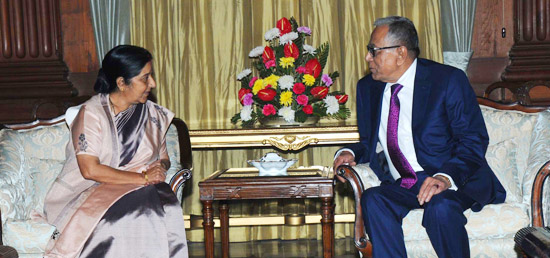 External Affairs Minister calls on President Abdul Hamid of the People's Republic of Bangladesh​ at Rashtrapati Bhawan, New Delhi