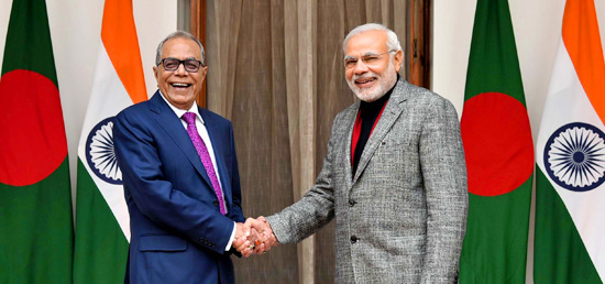 Prime Minister meets ​President Abdul Hamid of the People's Republic of Bangladesh in New Delhi