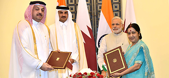 India and Qatar exchange six agreements/MOUs during the State Visit of the Emir of the State of Qatar to India