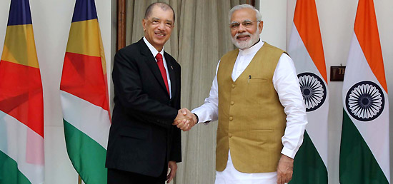 Prime Minister meets President James Alix Michel of Republic of Seychelles in New Delhi