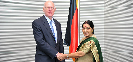 External Affairs Minister meeting with Dr. Norbert Lammert, Chairman of Bundestag during her visit to Germany