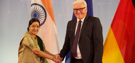 External Affairs Minister meets Foreign Minister Frank-Walter Steinmeier of Germany in Berlin