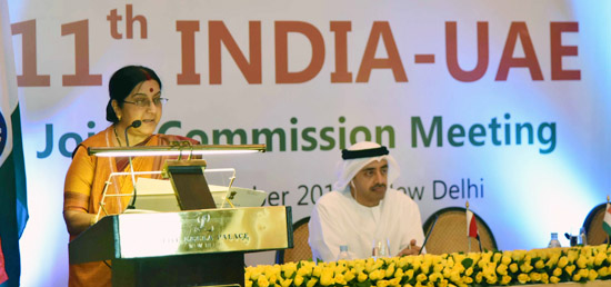 ''India and UAE share a centuries-old unique bond of mutual trust based on our shared values and synergies'' - External Affairs Minister