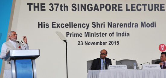 ''Singapore's success became an aspiration of Indians. And, in turn, India became the hope for a more peaceful, balanced and stable world.'' - Prime Minister