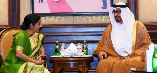 External Affairs Minister calls on Crown Prince of Abu Dhabi Sheikh Mohamed Bin Zayed Al Nahyan in New Delhi