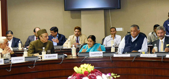 Parliamentary Consultative Committee Meeting on merger of Ministry of External Affairs and Ministry of Overseas Indian Affairs takes place in New Delhi