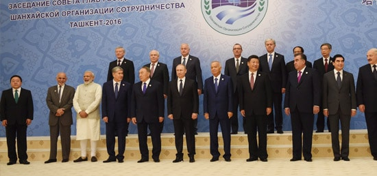 Group photo at SCO Summit in Tashkent