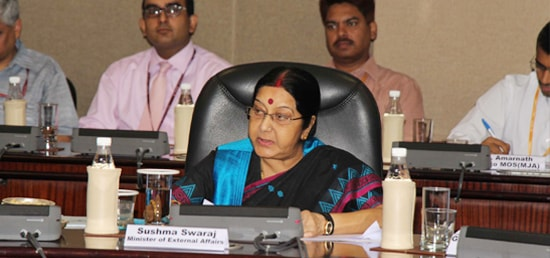 External Affairs Minister chairs session in New Delhi on preparations for Pravasi Bharatiya Divas 2017