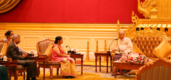 External Affairs Minister calls on U Htin Kyaw, President on Myanmar during in Nay Pyi Taw