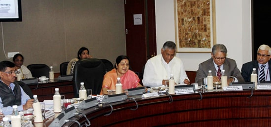 External Affairs Minister chairs Pravasi Bharatiya Divas Panel Discussion VII ''Documenting history of migration and achievements of diaspora in girmitiya countries'' in New Delhi