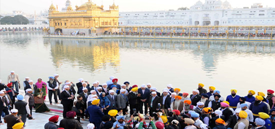 The delegations visit the Golden Temple in Amritsar before the 6th Heart of Asia Ministerial Conference