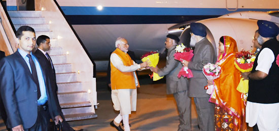 Prime Minister arrives in Amritsar to attend the 6th Heart of Asia Ministerial Conference