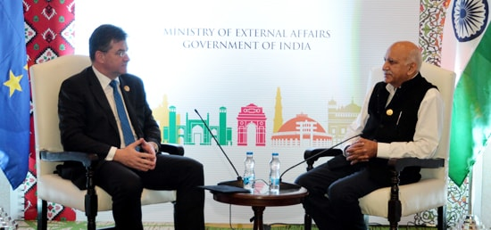 M.J. Akbar, Minister of State for External Affairs meets Miroslav Lajcak, Foreign Minister of Slovakia in Amritsar on the sidelines of the 6th Heart of Asia Ministerial Conference