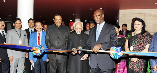 Vice President inaugurates the Exhibition at the India-Rwanda Business Forum, in Kigali, Rwanda.