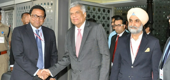 Ranil Wickremesinghe, Prime Minister of Sri Lanka, arrives in New Delhi during his visit to India