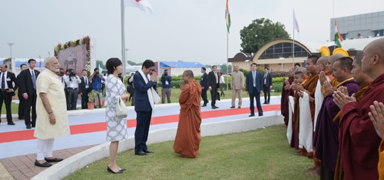 Shinzo Abe, Prime Minister of Japan arrives in Ahmedabad