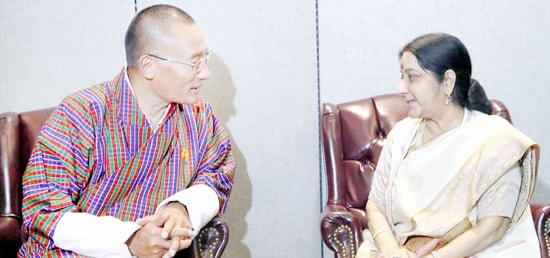 External Affairs Minister calls on Tshering Tobgay, Prime Minister of Bhutan in New York on the sidelines of 72nd Session of UN General Assembly