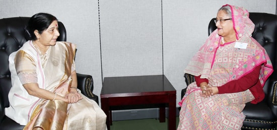 External Affairs Minister calls on Sheikh Hasina, Prime Minister of Bangladesh in New York on the sidelines of 72nd Session of UN General Assembly