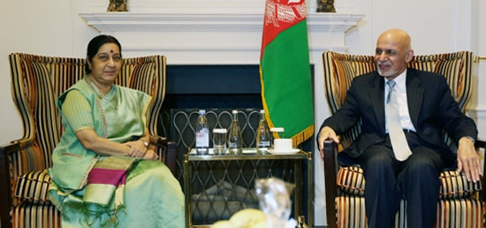 External Affairs Minister calls on Mohammad Ashraf Ghani, President of Afghanistan in New York on the sidelines of 72nd Session of UN General Assembly