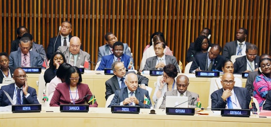 M J Akbar, Minister of State for External Affairs attends the 16th Commonwealth Foreign Affairs Ministers Meeting in New York