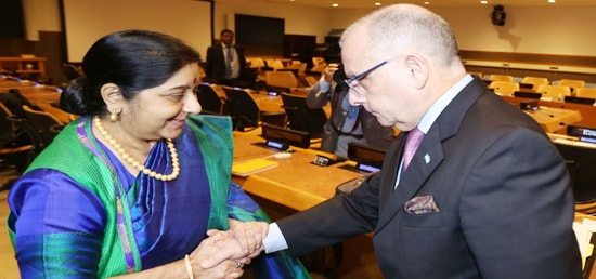 External Affairs Minister meets Jorge Faurie, Argentine Foreign Minister on the sidelines of 72nd Session of UN General Assembly
