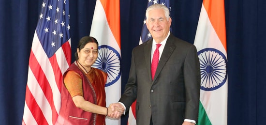 External Affairs Minister meets Rex W. Tillerson, United States Secretary of State on the sidelines of 72nd Session of UNGA in New York