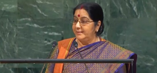 External Affairs Minister addresses the general debate of 72nd Session of the United Nations General Assembly