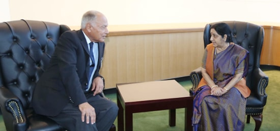 External Affairs Minister meets Ahmed Aboul-Gheit, Arab League Secretary-General on the sidelines of 72nd Session of UNGA in New York
