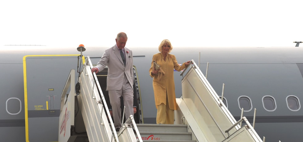 Prince of Wales and Duchess of Cornwall arrive in New Delhi