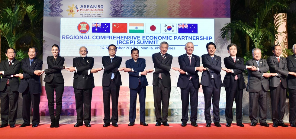 Group Photograph of Leaders at Regional Comprehensive Economic Partnership (RCEP) Summit in Manila, Philippines
