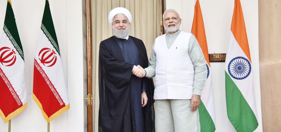 Prime Minister meets Dr. Hassan Rouhani, President of Iran during his visit to India
