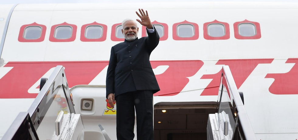 Prime Minister departs from Qingdao Liuting International Airport, China