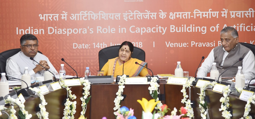 External Affairs Minister chairs panel discussion on ''Indian Diaspora's Role in Capacity Building of Artificial Intelligence in India'' in New Delhi
