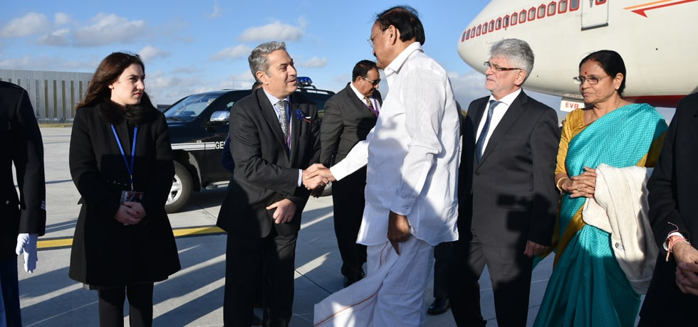 Vice President arrives in Paris on his 3-day visit to France
