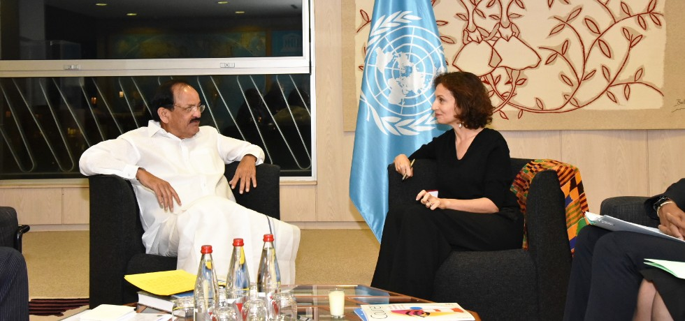 Vice President meets Audrey Azoulay, Director General of UNESCO in Paris