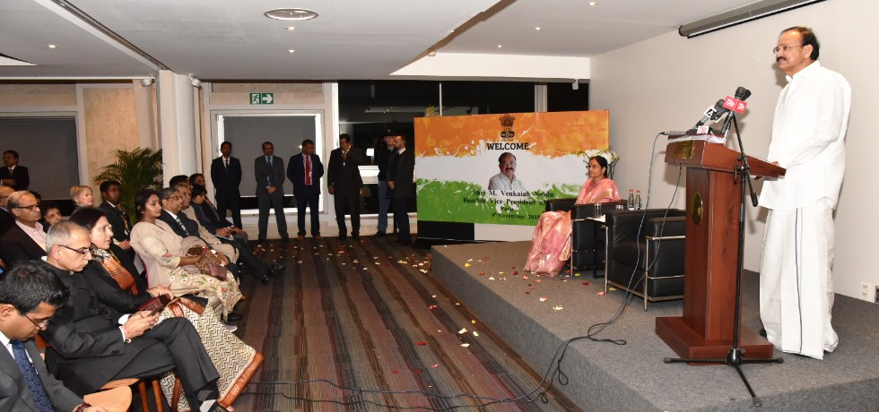 Vice President delivers his address at Indian Community Event in Paris