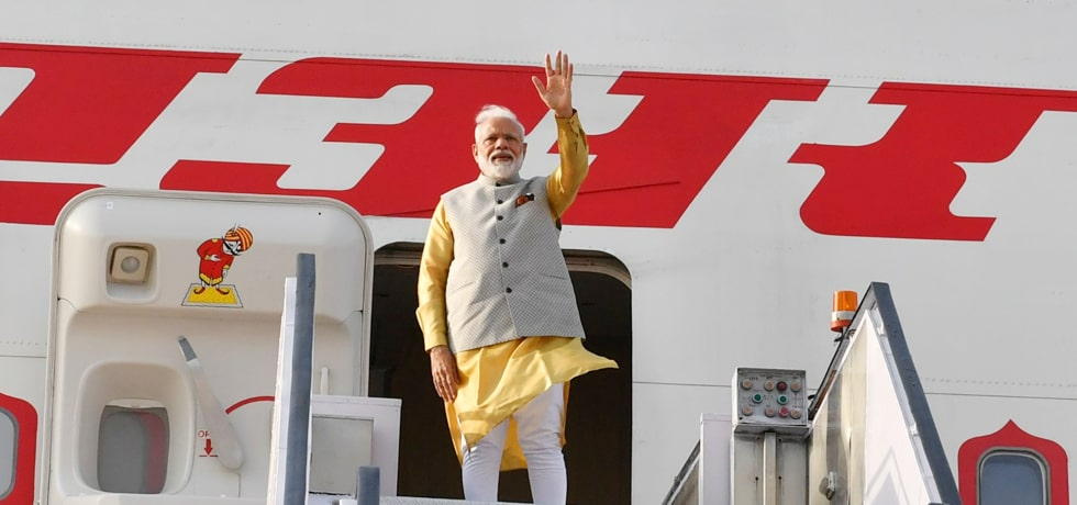 Prime Minister departs for Bishkek on his 2-day visit to Kyrgyz Republic to attend SCO Summit 2019 [ph]Photo Courtesy : Naveen Jora[/ph]