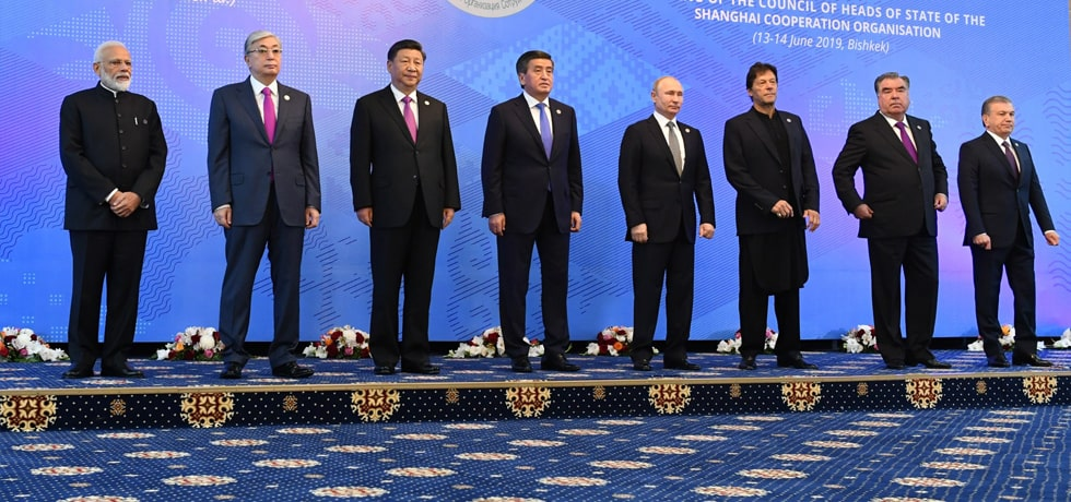 Prime Minister with Heads of State/Heads of Government of SCO Member States in Bishkek