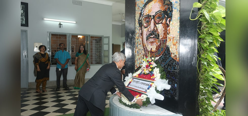 External Affairs Minister pays respect to Sheikh Mujibur Rahman at Bangabandhu Memorial Museum in Dhaka
