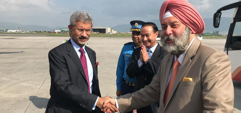 External Affairs Minister departs from Kathmandu after successful completion of 5th India-Nepal Joint Commission Meeting