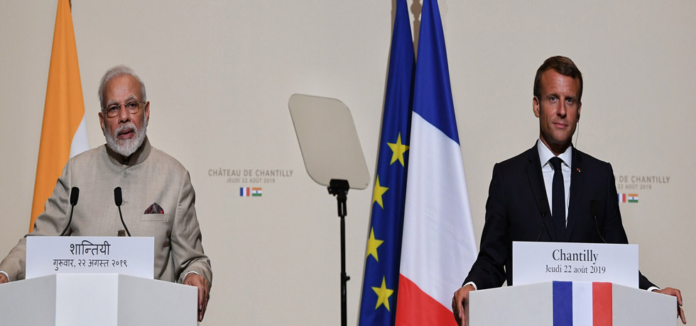 Prime Minister delivers Press Statement during his visit to France