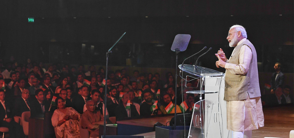 Prime Minister addresses Indian Community in Paris